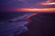 Sunset, Ocean wave foam, Cape May, NJ