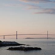 Newport Bridge at Dusk