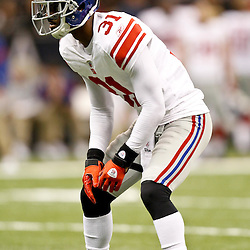 November 28, 2011; New Orleans, LA, USA; New York Giants cornerback Aaron Ross (31) against the New Orleans Saints during the third quarter of a game at the Mercedes-Benz Superdome. Mandatory Credit: Derick E. Hingle-US PRESSWIRE
