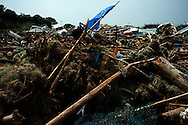Matsukawa, debris left by earthquake and tsunami