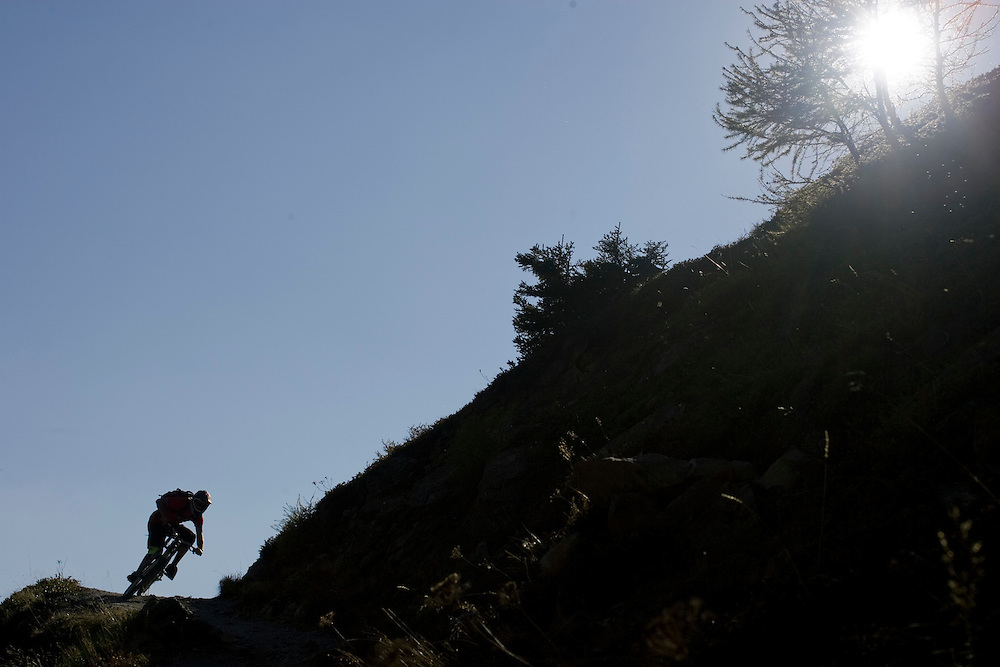 Ben Walker riding  in Lotschental Switzerland