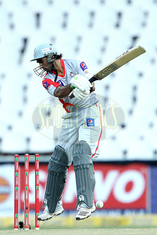Imran Nazir during 2nd Qualifying match of the Karbonn Smart CLT20 South Africa between Auckland Aces and Sialkot Stallions held at The Wanderers Stadium in Johannesburg, South Africa on the 9th October 2012..Photo by Ron Gaunt/SPORTZPICS/CLT20
