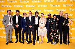 Harry Michell, Joel Fry, Ed Sheeran, director Danny Boyle, Himesh Patel, Lily James, Sanjeev Bhaskar, Meera Syal, writer Richard Curtis, and Kate McKinnon attending the Yesterday UK Premiere held in London, UK.