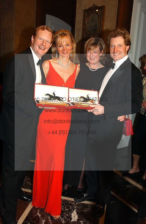 Left to right, The EARL & COUNTESS OF DERBY and the HON.PETER & MRS STANLEY at the 2004 Cartier Racing Awards in association with the Daily Telegraph, held at the Four Seasons Hotel, London on 17th November 2004.<br /><br />NON EXCLUSIVE - WORLD RIGHTS