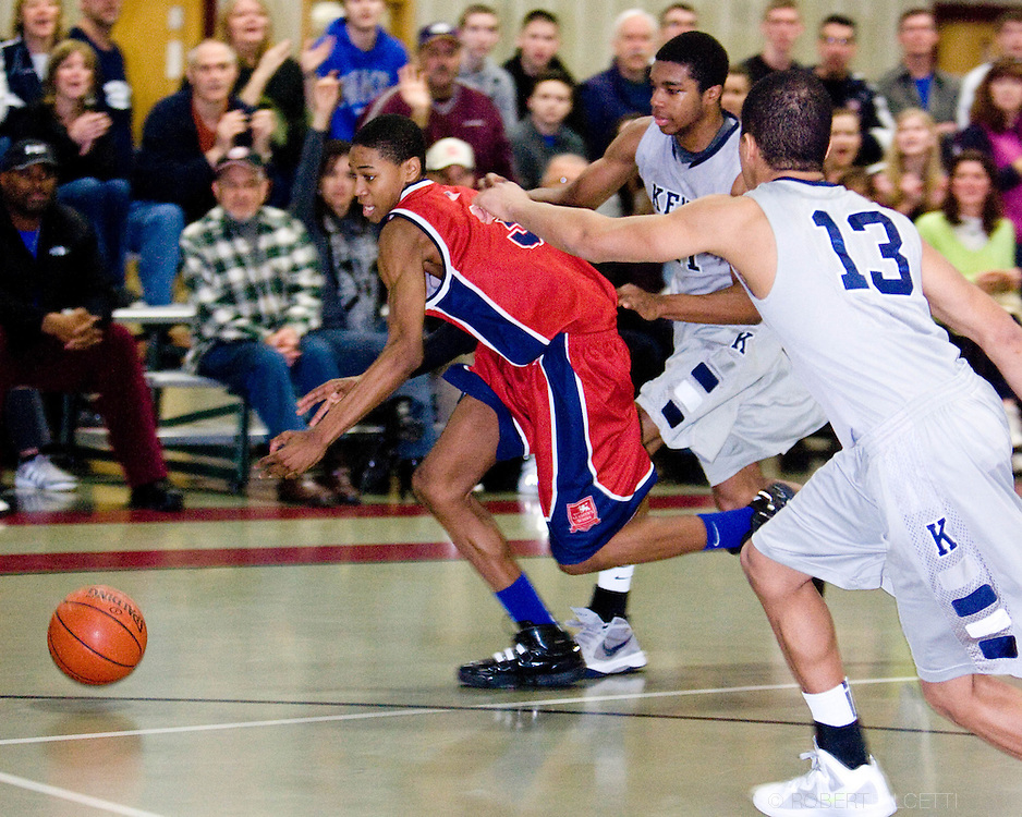 The Master's School, West Simsbury, CT. 2011-2012. Boys Varsity Basketball.  (Photo by Robert Falcetti). .