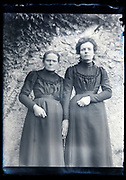 two different age women identical dressed posing France circa 1920s
