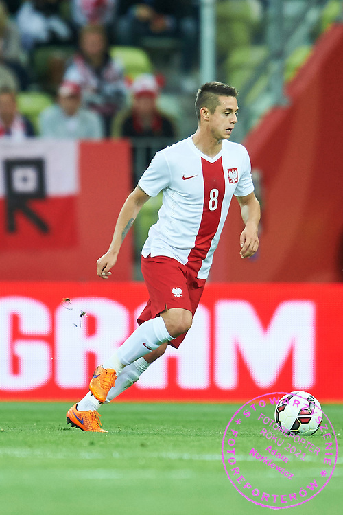 Ariel Borysiuk from Poland controls the ball during international friendly soccer match between Poland and Greece at PGE Arena Stadium on June 16, 2015 in Gdansk, Poland.<br /> Poland, Gdansk, June 16, 2015<br /> <br /> Picture also available in RAW (NEF) or TIFF format on special request.<br /> <br /> For editorial use only. Any commercial or promotional use requires permission.<br /> <br /> Adam Nurkiewicz declares that he has no rights to the image of people at the photographs of his authorship.<br /> <br /> Mandatory credit:<br /> Photo by &copy; Adam Nurkiewicz / Mediasport