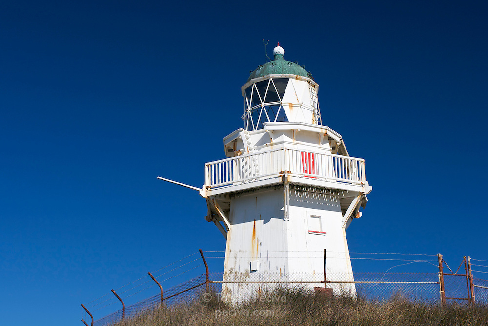 Lighthouse at Waipapa Point, near Invercargill, New Zealand.