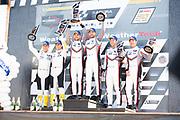 May 5, 2019: IMSA Weathertech Mid Ohio. #912 Porsche GT Team Porsche 911 RSR, GTLM: Earl Bamber, Laurens Vanthoor, #911 Porsche GT Team Porsche 911 RSR, GTLM: Patrick Pilet, Nick Tandy, #3 Corvette Racing Corvette C7.R, GTLM: Jan Magnussen, Antonio Garcia