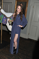 ROSIE FORTESCUE at a carnival themed party hosted by Stacey Bendet for the Alice & Olivia fashion label at Paradise, Kensal Green, London on 9th November 2011