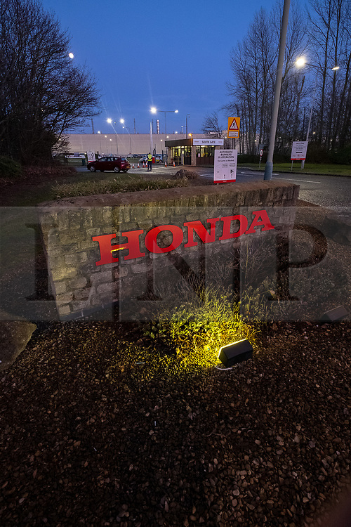 © Licensed to London News Pictures 18/02/2019, Swindon , UK.  The Honda car factory in Swindon. Honda are expected to announce the closing of the factory tomorrow (Feb 19th 2019). Photo Credit : Stephen Shepherd/LNP