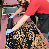 2016 UWL Steamroller Printmaking Art Joel Elgin Pump House