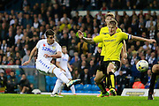 Leeds United's Pablo Hernandez (19) goes close with a shot for Leeds United during the EFL Sky Bet Championship match between Leeds United and Burton Albion at Elland Road, Leeds, England on 29 October 2016. Photo by Richard Holmes.