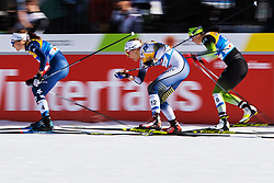 February 21, 2019 - Seefeld In Tirol, AUSTRIA - 190221 Sophie Caldwell of USA, Stina Nilsson of Sweden and Katja Visnar of Slovenia competes in women's cross-country skiing sprint quarter final during the FIS Nordic World Ski Championships on February 21, 2019 in Seefeld in Tirol..Photo: Joel Marklund / BILDBYRN / kod JM / 87879 (Credit Image: © Joel Marklund/Bildbyran via ZUMA Press)