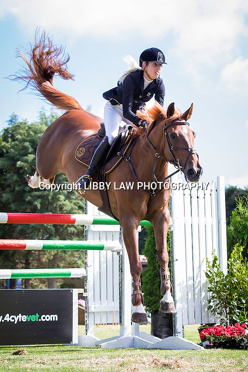 NZL-Katie Laurie (FRANGIPANNE DE TOXANDRIA) 2ND-Continental Cars Audi 1.35-1.40m Championship TAM5: 2015 NZL-IMAKE Showjumping Waitemata World Cup - Woodhill Sands (Saturday 10 January) CREDIT: Libby Law/www.photosport.co.nz