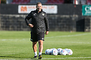 Forest Green Rovers assistant manager, Scott Lindsey during the Pre-Season Friendly match between Shortwood United and Forest Green Rovers at Meadowbank Ground, Nailsworth, United Kingdom on 14 July 2017. Photo by Shane Healey.