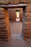 Doorways at Far View Ruin, Mesa Verde National Park (World Heritage Site), Colorado.