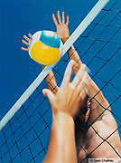 Close-up of a volleyball game, Ibiza 2001
