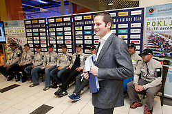 Tomaz Sustersic at press conference of Slovenia Biathlon team before new season 2010 - 2011, on November 24, 2010, in Emporium, BTC, Ljubljana, Slovenia.  (Photo by Vid Ponikvar / Sportida)
