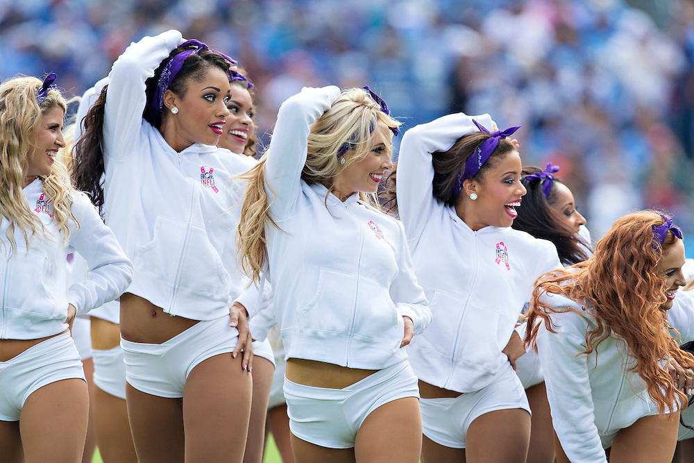 NASHVILLE, TN - OCTOBER 12:  Cheerleaders of the Tennessee Titans perform during a game against the Jacksonville Jaguars at LP Field on October 12, 2014 in Nashville, Tennessee.  The Titans defeated the Jaguars 16-14.  (Photo by Wesley Hitt/Getty Images) *** Local Caption ***