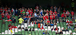 DUBLIN, REPUBLIC OF IRELAND - Friday, May 27, 2011: Wales' supporters during the Carling Nations Cup match against Northern Ireland at the Aviva Stadium (Lansdowne Road). (Photo by David Rawcliffe/Propaganda)