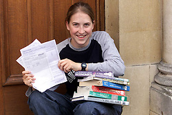 A - Level results at Chelmsford County High School for Girls. Siobhan Dennehy 17, 5 A's and a B in maths, August 17, 2000. Photo by Andrew Parsons/i-Images..