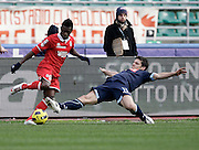 Bari (BA), 23-01-2011 ITALY - Italian Soccer Championship Day 21 - Bari VS Napoli..Pictured: Alvarez (B) Maggio (N)..Photo by Giovanni Marino/OTNPhotos . Obligatory Credit