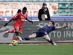 Bari (BA), 23-01-2011 ITALY - Italian Soccer Championship Day 21 - Bari VS Napoli..Pictured: Alvarez (B) Maggio (N)..Photo by Giovanni Marino/OTNPhotos . Obligatory Credit