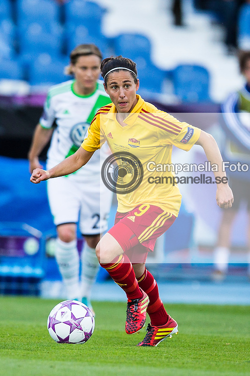 Lisboa 2014-05-22:  <br /> <br /> Tyres&ouml; FF 9 Veronica Boquete in action against VfL Wolfsburg durring the final of the 2014 UEFA Women's Champions League. <br /> <br /> <br /> (Photo: Michael Campanella / Pic-Agency.com)