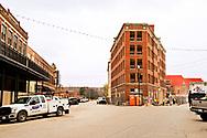 Pawhuska, Oklahoma, Triangle Building, built in 1912, during renovation 11/2017