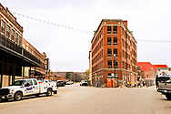 Pawhuska, Oklahoma, Triangle Building, built in 1912, during renovation 11/2017