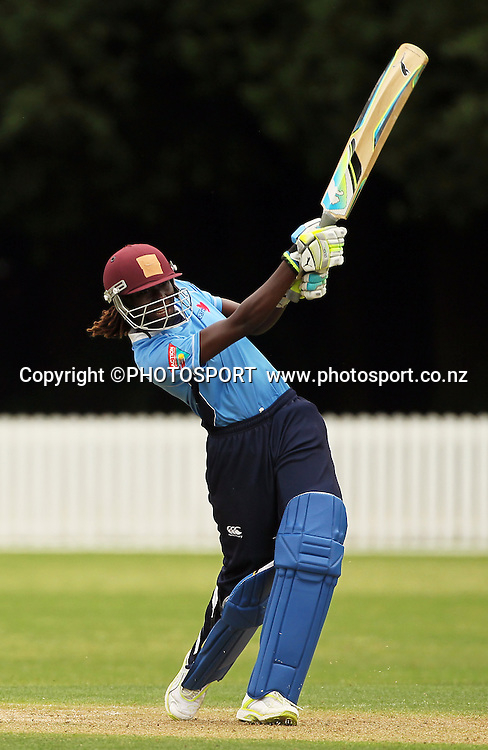 Stefanie Taylor batting for Auckland. Central Hinds v Auckland Hearts. Action Cricket Twenty20, womens cricket match, Lincoln Green, Lincoln University, Thursday 29 December 2011. Photo : Joseph Johnson / photosport.co.nz