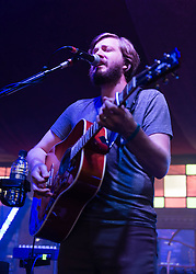 © Licensed to London News Pictures. 12/07/2014. London, UK.   Midlake performing live at Hyde Park as part of the British Summer Time series of outdoor concerts. In this picture - Eric Nichelson.   Midlake are an American folk rock band consisting of members McKenzie Smith (drums), Paul Alexander (bass), Eric Nichelson (guitar/lead vocals), Eric Pulido, Jesse Chandler (keyboards),Joey McClellan (guitars).Photo credit : Richard Isaac/LNP