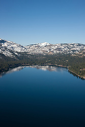 """Donner Lake Aerial 3"" - Photograph of Donner Lake in Truckee, California. Shot from an amphibious seaplane with the door removed."