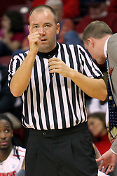 08 December 2012: referee Geoff Vejsicky during an NCAA mens basketball game between the Western Michigan Broncos and the Illinois State Redbirds (Missouri Valley Conference) in Redbird Arena, Normal IL
