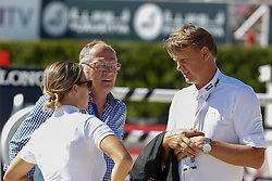 Kirchhoff Ulrich (UKR) with Katharina Offel and Thomas Fruehmann<br /> Furusiyya FEI Nations Cup Jumping Final <br /> CSIO Barcelona 2013<br /> © Dirk Caremans