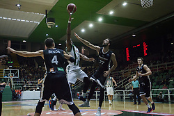 November 8, 2017 - Avellino, Campania, Italy - Shot basketball of Dez Wells of Sidigas Avellino during third day of Champions League match between Sidigas Avellino v Cez Nymburk at Palasport Giacomo Del Mauro, Avellino, Italy November on 8, 2017. Avellino won 80-63. (Credit Image: © Paolo Manzo/NurPhoto via ZUMA Press)