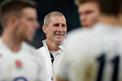 England Head Coach Stuart Lancaster smiles after England beat Australia 26-17 - Photo mandatory by-line: Rogan Thomson/JMP - 07966 386802 - 29/11/2014 - SPORT - RUGBY UNION - London, England - Twickenham Stadium - England v Australia - QBE Autumn Internationals.