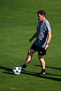 SEVILLE, SPAIN - AUGUST 21:  Head Coach of Sevilla FC Eduardo Berizzo in action during the training session prior to their UEFA Champions League match against Istambul Basaksheir at the Sevilla FC training ground on August 21, 2017 in Seville, Spain.  (Photo by Aitor Alcalde Colomer/Getty Images)