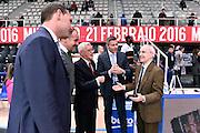 DESCRIZIONE : Trento Beko All Star Game 2016<br /> GIOCATORE : Valerio Bianchini Dan Peterson arbitri<br /> CATEGORIA : Before Pregame arbitri<br /> EVENTO : Beko All Star Game 2016<br /> GARA : Beko All Star Game 2016<br /> DATA : 10/01/2016<br /> SPORT : Pallacanestro <br /> AUTORE : Agenzia Ciamillo-Castoria/Max.Ceretti