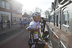 Amalie Dideriksen (DEN) of Boels-Dolmans Cycling Team enjoys the sunshine after Stage 1b of the Healthy Ageing Tour - a 77.6 km road race, starting and finishing in Grijpskerk on April 5, 2017, in Groeningen, Netherlands.