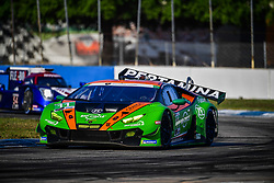 March 15, 2019 - Sebring, UNITED STATES OF AMERICA - 11 GRT GRASSER RACING TEAM (DEU) LAMBORGHINI HURACAN GT3 GTD ROLF INEICHEN (CHE) MIRKO BORTOLOTTI (ITA) RIK BREUKERS  (Credit Image: © Panoramic via ZUMA Press)