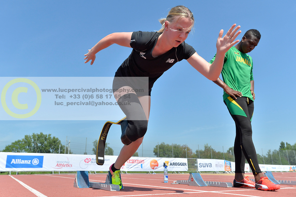 02/08/2017; Steven, Anna, T44, NZL, Training at 2017 World Para Athletics Junior Championships, Nottwil, Switzerland