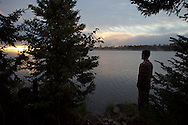 Seven participants and two guides led a Wilderness Inquiry canoe adventure on Brule Lake in the Boundary Waters from Sept. 5 to September 9, 2012.<br />