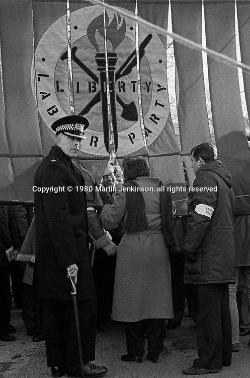 March against unemployment, Liverpool. 29-11-1980