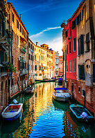 """Canal on the way to the excellent Pizzería Da Alvise Restaurant - Venice""..."