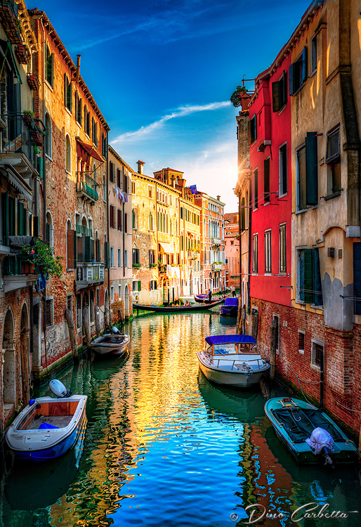 """""""Canal on the way to the excellent Pizzería Da Alvise Restaurant - Venice""""..."""