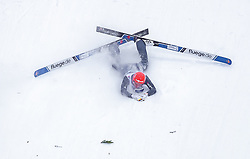 09.03.2019, Holmenkollen, Oslo, NOR, FIS Weltcup Skisprung, Raw Air, Oslo, Team Bewerb, Herren, im Bild Sturz von Stephan Leyhe (GER) // Crash of Stephan Leyhe of Germany during the men's Team Competition of the Raw Air Series of FIS Ski Jumping World Cup at the Holmenkollen in Oslo, Norway on 2019/03/09. EXPA Pictures © 2019, PhotoCredit: EXPA/ JFK