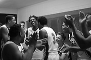 Michigan City's Keishawn Lewis, left, and his teammates celebrate his game-winning basket in City's 64-63 win over E.C. Central Thursday at Michigan City.