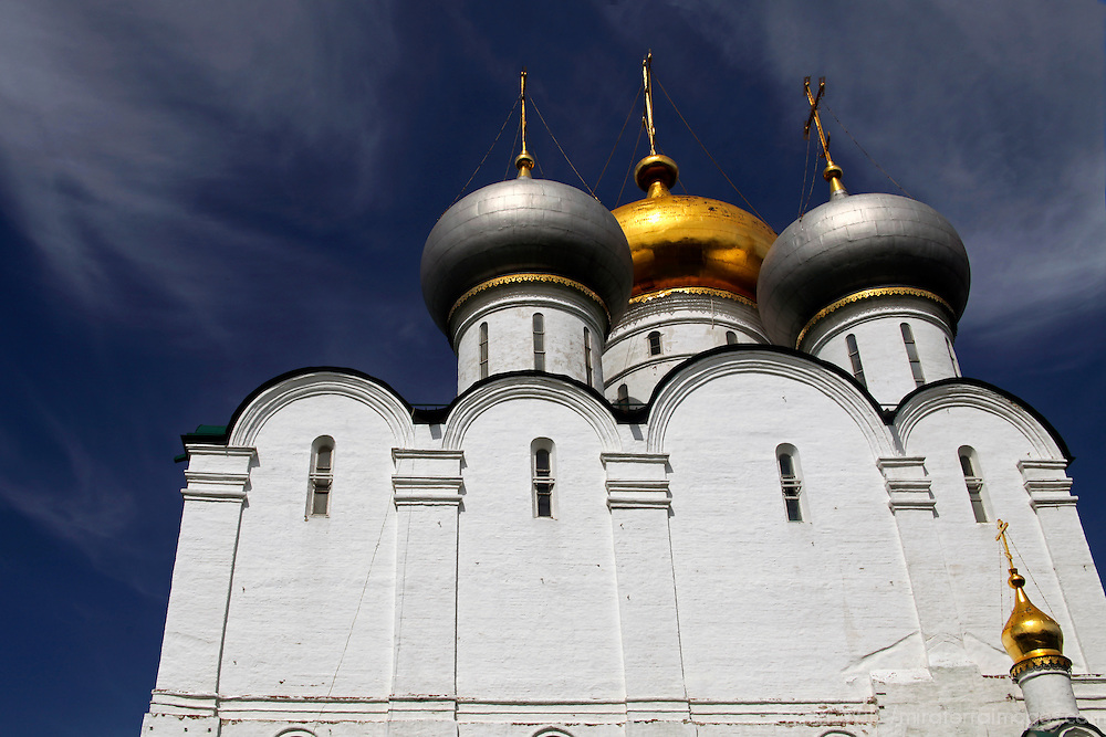 Europe, Russia, Moscow. Our Lady of Smolensk Cathedral at Novodevichy Convent, Moscow.